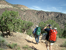 Hiking into the Black Canyon of the Gunnison River