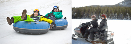 Snow Tubing and Snowmobiling