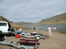 Great fun on Horsetooth Reservoir